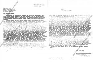 letter to USCG August 1960 describing repair to air pump for main engine.